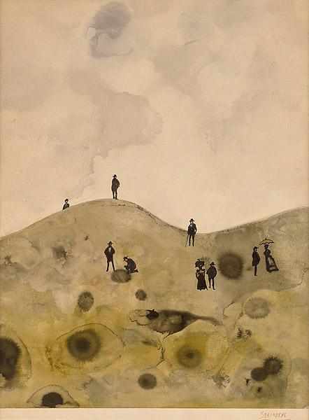 Landschaft mit Menschen