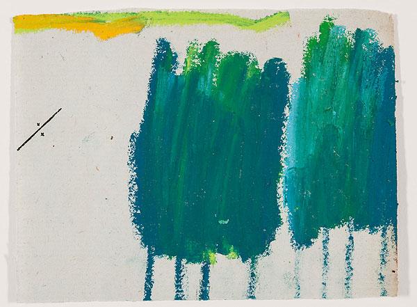 Bäume grün, abstrakt