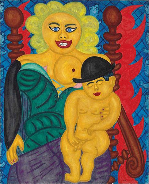Frau mit kleinem Mann