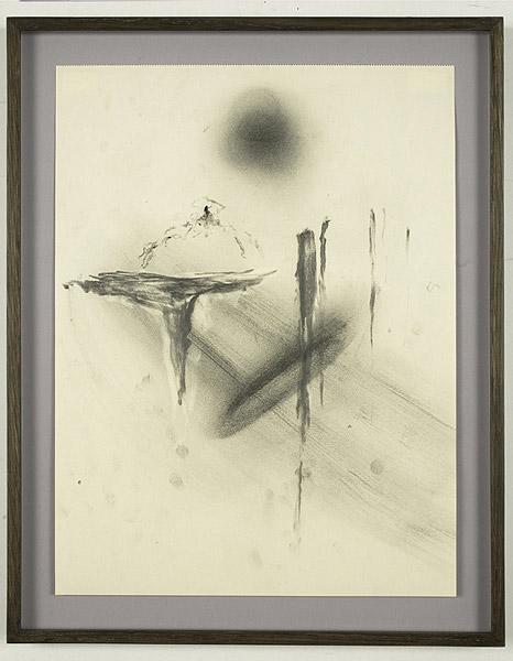 abstrakte grautonige Zeichnung