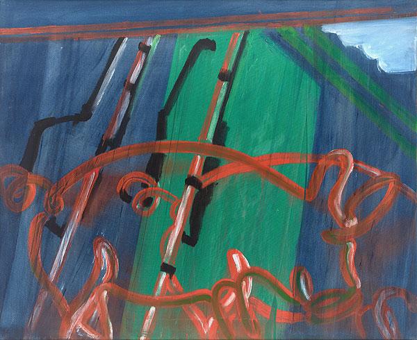 abstrakte farbige Komposition