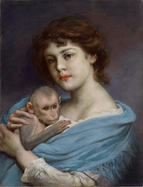 Frau mit Äffchen