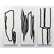 abstrakte Zeichnungen schwarz auf weiß