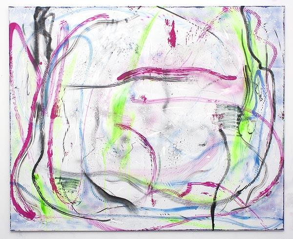 abstraktes farbiges Gemälde