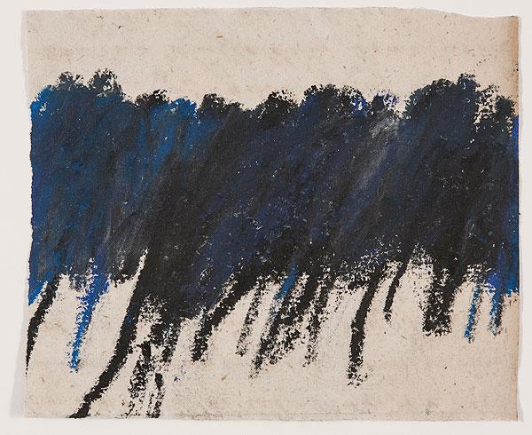 Bäume blau und schwarz, abstrakt