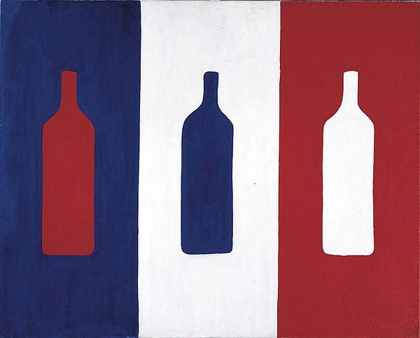 Französische Flagge verfremdet