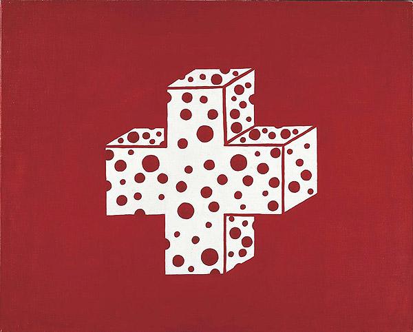 Schweizer Flagge verfremdet