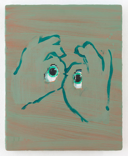 Kunstwerk abstrakt mit Grüntönen