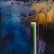Bild einer Kerze, malerisch verfremdet