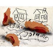 Zeichnung mit Häusern