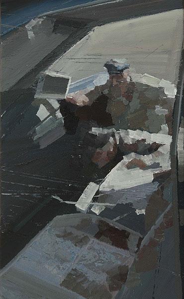 Personen untersuchen ein Auto