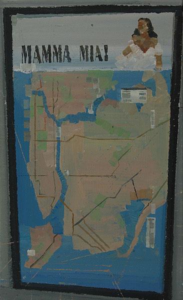 Plakat mit Landkarte