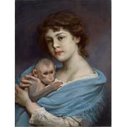 Frau mit kleinem Äffchen