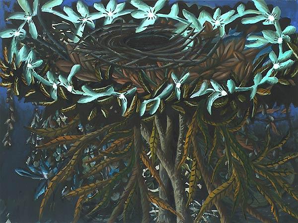 Nest in einem Baum