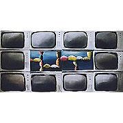 Wand aus Bildschirmen
