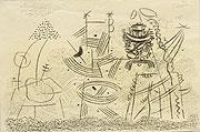 abstrakte Zeichnung mit geometrischen Elementen